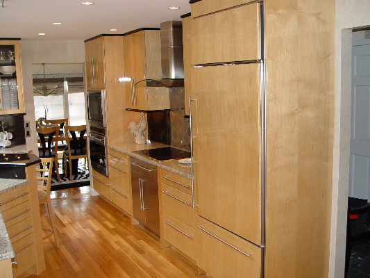 contemporary custom kitchen with wolf sub zero built in. Black Bedroom Furniture Sets. Home Design Ideas