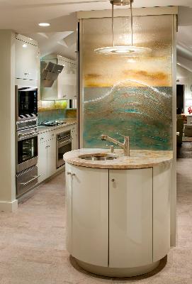 custom-radius-bar-sink-base-custom-designed-artist-painted-glass-lighted-backsplash-with-textured-cresting-wave