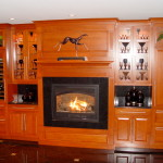 Dry bar Zero clearance fireplace, Sub Zero Wine Storage unit
