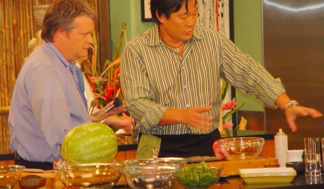 Ming Tsai On Set